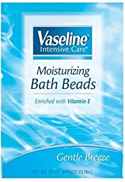 Vaseline Intensive Care Moisturizing Bath Beads, Gentle Breeze, 24 Ounces