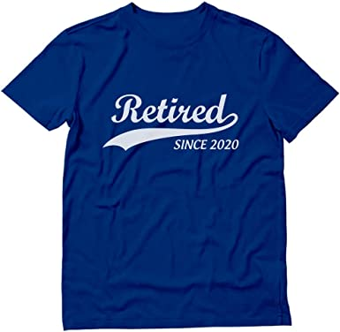 Amazon.com: Retired Since 2020 Shirt Funny Retirement Gift Men's T ...