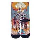 The Church of The Nervous System Custom Socks Creative Socks for Men/Women Casual Cartoon Socks Black