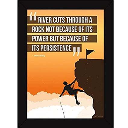 inspirational frames for office. Fatmug Synthetic Inspirational Quotes Frames, River\u0027s Persistence Poster For Room And Office Decor, 10 Frames O