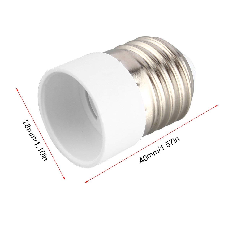 MXECO Material incombustible E27 E14 Para l/ámpara Titular convertidor Durable Inicio z/ócalo Conversi/ón Base Bombilla port/átil