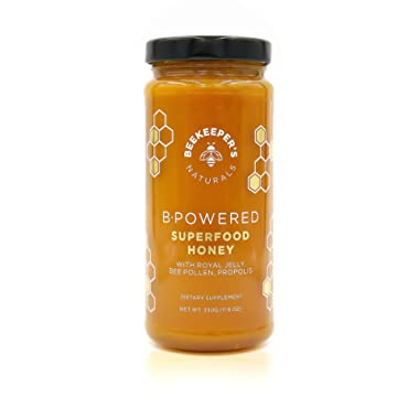 Bee Powered by Beekeeper's Naturals | Royal Jelly, Bee Pollen, Bee Propolis in Raw Unfiltered Honey for Natural Energy | Hive Superfood Complex for Immunity, Cognitive & Allergy Support