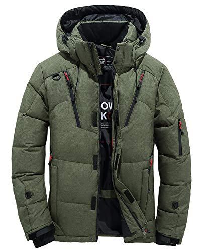 Calda Antivento Di All'aperto Szawsl Cappotto Impermeabile Uomo Giù Verde Giacca Traspirante WwB7q6Ofx