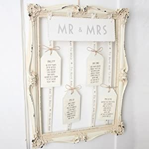Vintage Style Frame for Wedding Table Plan - Unique ...