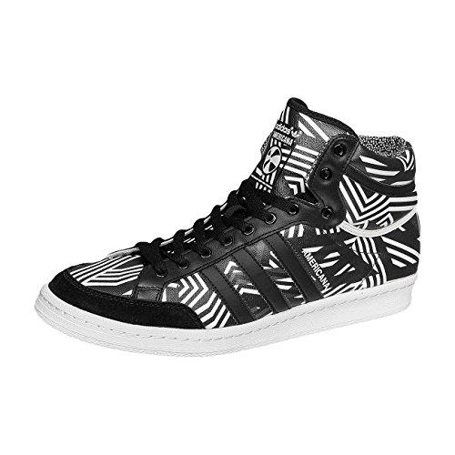 adidas - Zapatillas de Piel para hombre schwarz-grau-weiß
