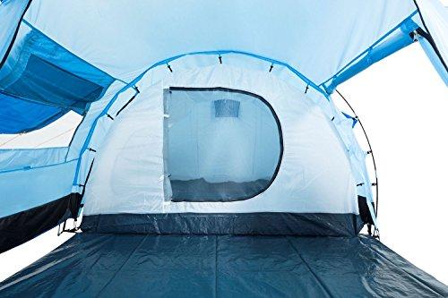 514GI5XJaJL CampFeuer Tunnelzelt für 4 Personen Super+   Großes Familienzelt mit 2 Eingängen und 3.000 mm Wassersäule   Gruppenzelt…