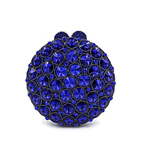 Main Blue Les De Mariage KOKR Rond Clouté Sac Fête Sac Cristal Embrayage Strass Sac À Femmes De Sa6wxBq6