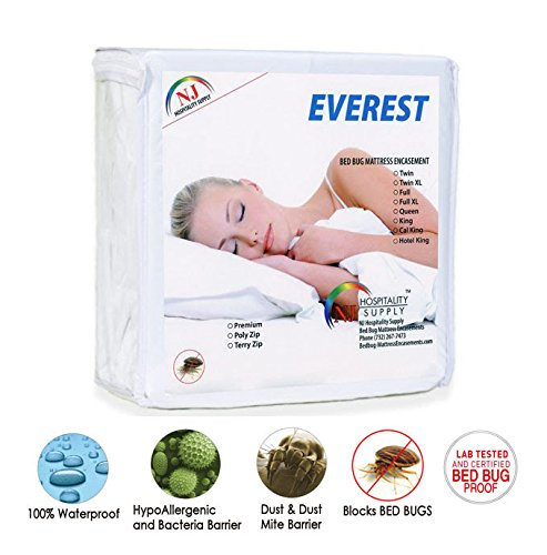 "Everest Supply Three Quarter 48x72""+5""depth (Fits 4""-6"") Sleeper Sofa Premium Mattress Encasement. Knitted Polyster PU Laminated Fabric Waterproof-Bedbug proof, Hypoallergenic Zippered Protector/Cover"