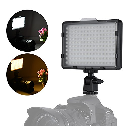Andoer Super Slim Dimmable 160 LED Light Panel Camera Camcorder Video Lighting 5600K for Canon Nikon Sony Pentax Panasonic Olympus DSLR by Andoer