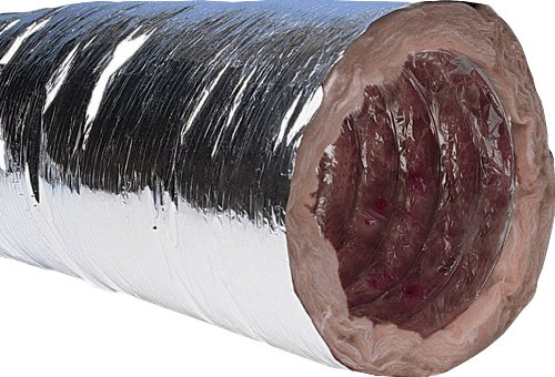 Air Conditioning Duct (Speedi-Products FD-25R6 08 8-Inch Diameter by 25-Feet Length R6 Insulated Flexible Duct with Metalized Jacket)