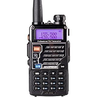 Sale Off Baofeng UV-5RE Two Way Radio Long Range Walkie Talkie UHF VHF Radio Dual-Band136-174/400-480 MHz 128Channels Upgrade Enhanced Metallic Version FM Amateur Portable Radio Transceiver Black