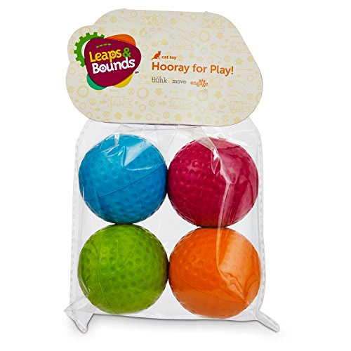 (Leaps & Bounds Foam Ball Cat Toys, Pack of 4 Balls, Assorted)