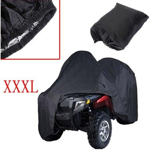"Universal Fit Black ATV Cover Sun UV Protective Dust Moist Water Resistant For Polaris Quad XXXL Size 256 x 110 x 120cm (101""x43""x47"")"