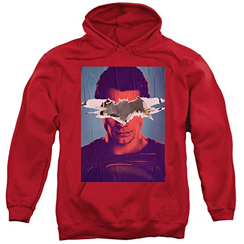 Trevco Men's Batman Vs Superman Poster Adult Pull-Over Hoodie at Gotham City Store