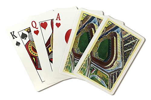 New York, New York - Aerial View of Yankee Stadium (Playing Card Deck - 52 Card Poker Size with Jokers)