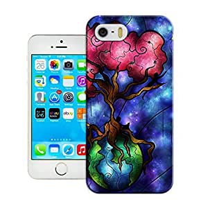 LarryToliver Creative Design Snap on Customizable Beautifully magical pattern Cheap unique iphone 5/5s Durable Plastic Case Cover