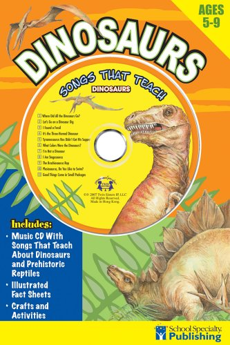 Download Dinosaurs Sing Along Activity Book with CD: Songs That Teach Dinosaurs (Sing Along Activity Books) pdf