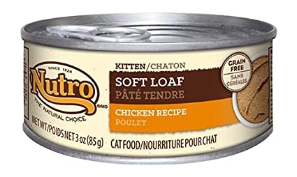Nutro Soft Loaf Kitten Wet Cat Food, Chicken, 3 Oz. (Pack Of 24)