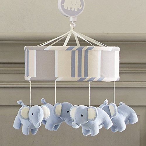 Lambs & Ivy Signature Blue Elephant Tales Crib Musical Mobile by Lambs & Ivy
