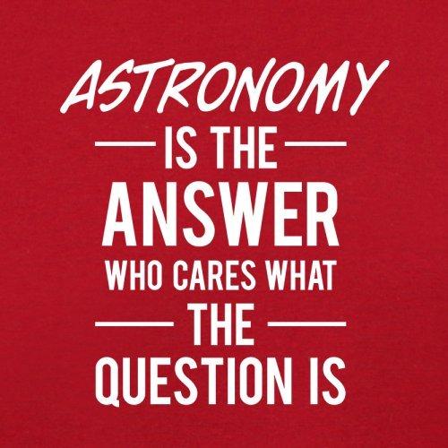 Dressdown astronomía es la respuesta–para hombre T-Shirt–13colores Rojo
