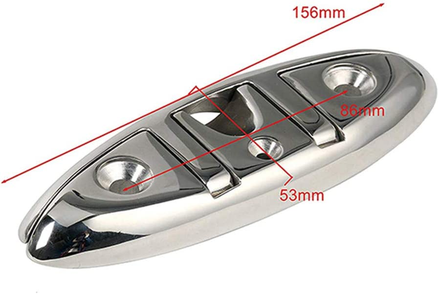 10 inch Boat Cleat Stainless Steel Silhouette Mooring Boat Dock Cleats Flat Top Low Marine Grade Mount Deck Boat Cleat