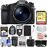 Sony Cyber-Shot DSC-RX10 IV 4K Wi-Fi Digital Camera 128GB Card + Backpack + Flash + Battery & Charger + Tripod + Filters + Kit