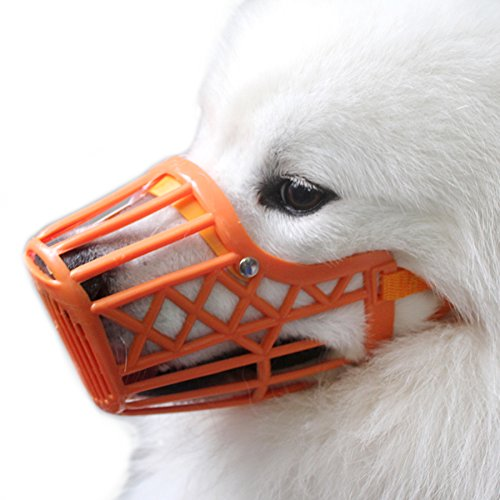 Alfie Pet by Petoga Couture - Paxton Adjustable Quick Fit Plastic Muzzle - Color: Orange, Size: Small