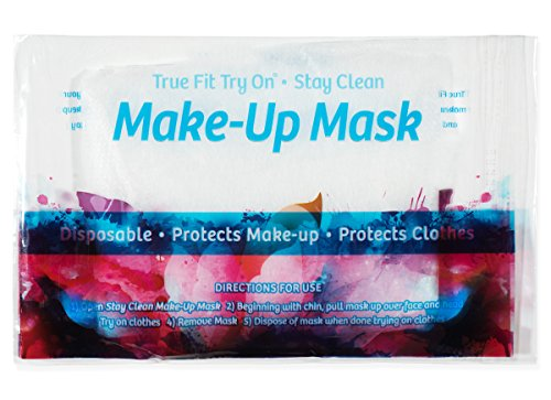 True Fit Try On Makeup Mask - Disposable Cosmetic Mask - Protects Face and Hair - 25 Pack by True Fit Try On