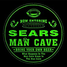 4x ccqa1844-g SEARS Man Cave Football Bar Beer 3D Etched Engraved Drink Coasters