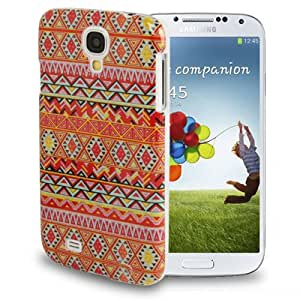 National Style Abstract Geometric Seamless Pattern Protective Plastic Case Back Cover for Samsung Galaxy S IV / i9500