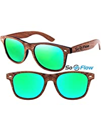 Polarized Walnut Wood Wayfarer Sunglasses Men Women...