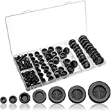 170 Pieces Rubber Grommets Double Sided Round