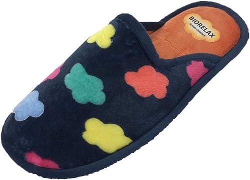 Zapatilla de Estar por casa/Mujer/Biorelax/Marino/Polar: Amazon.es: Zapatos y complementos