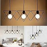 Anncus 3 in 1 Metal Vintage Ceiling Light Pendant Lamp Cage Lampshade Fixture Chandelier Indoor Lighting