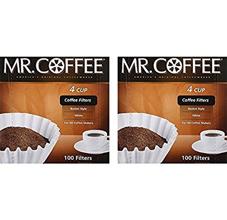 Coffee 4 Cup Filter Pack - 2-Pack 100-Count Coffee Filter 4 Cup