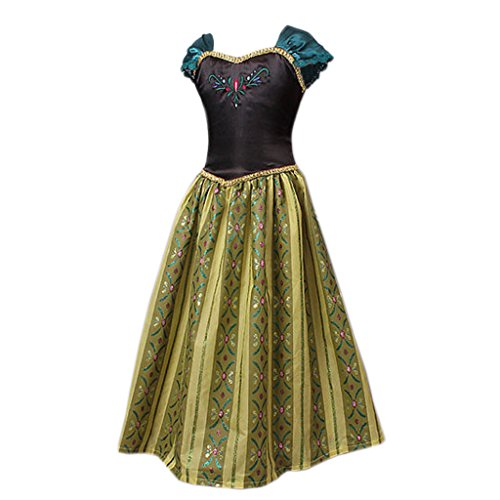 [EITC Little Girls' Shining Printing Dress Deluxe Princess Costume 4T Green] (Flower Child Costumes Ideas)