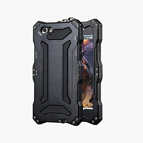 - iPhone 5 SE Case,bpowe Gundam Gorilla Glass Aluminum Metal premium protection Shockproof Military Bumper Heavy Duty Sturdy Protective Cover Shell Case for iPhone 5 5s SE (Black)