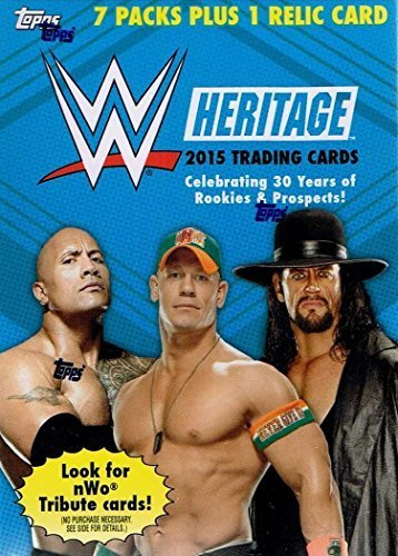 2015 Topps Heritage WrestleMania Series Unopened Blaster Box of Packs with One GUARANTEED Relic Card Per ()