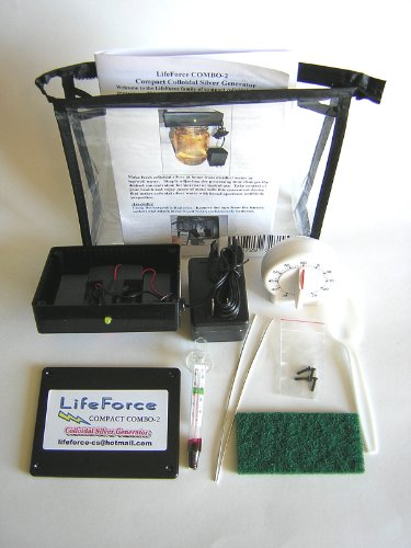 Compact COMBO-2 Colloidal Silver Generator Package by LifeForce Devices