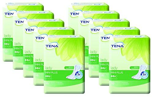 TENA Lady Mini Plus, Damen Einlagen für leichte Blasenschwäche / Inkontinenz, insgesamt 160 Hygieneeinlagen (Vorratspack)