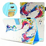 Fire 7 Tablet Case Premium PU Leather Ultra Slim 3D Pattern Smart Stand Cover with Auto Wake/Sleep for All-New Amazon Fire 7 Tablet(7th Generation 2017 Release) (Elephant)