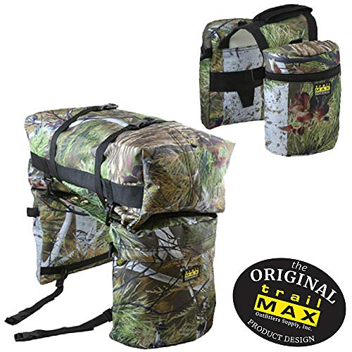 TrailMax Saddle-Bag System, Medium-Sized Overnighter Combo Pack with Horn Bags, Detachable Cantle Bag & Saddlebags in North Fork Camo