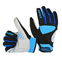 JUSTKIT Windproof Cycling Gloves Touch Recognition Full Finger Gloves Mountain Bike Gloves Road Racing Bicycle Gloves Gel Pad Riding Gloves Men/Women Work Gloves