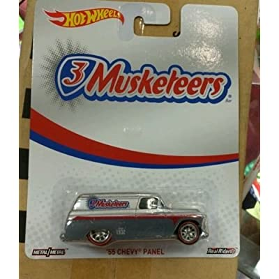 NEW 2014 Hot Wheels Pop Culture 3 Musketeers '55 Chevy Panel RARE Real riders: Toys & Games