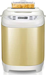 ZYK 1.5 LB Bread Maker, 18 Programs Bread Machine Including Gluten-Free Setting, Non-Stick Dishwasher-Safe Pan, Stainless Steel