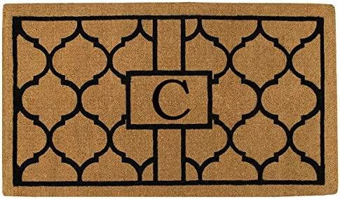 Home More 180081830C Pantera 18 X 30 Extra-Thick Monogrammed Doormat Letter C