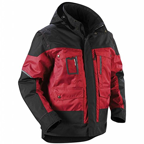 Blåkläder Workwear Winterjacke mit Kapuze 4886, rot / schwarz, XL, 1 Stück, 67-48861977-5699-XL