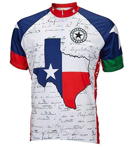 World Jerseys Texas Flag Cycling Jersey Men's Medium Short Sleeve