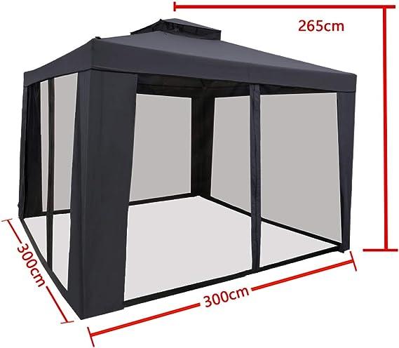 Froadp Carpa de Aluminio para jardín, 300 x 300 cm, Pabellón de ...