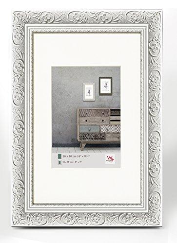 Walther Design CR070W Barock, Marco de madera, blanco, 50 x 70 cm